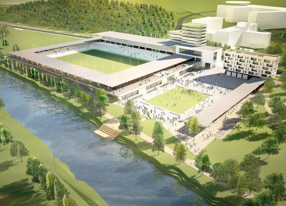 Nya Studenternas Arena, ritad av arkitektfirman Fojab