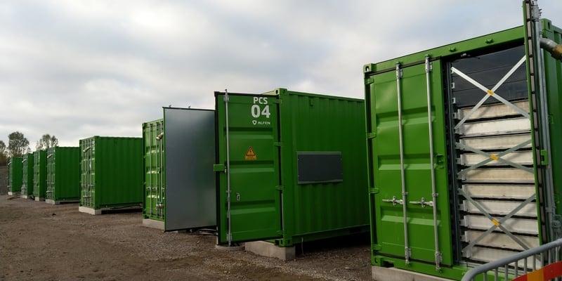 Uppsala Batterilager närbild inbäddad