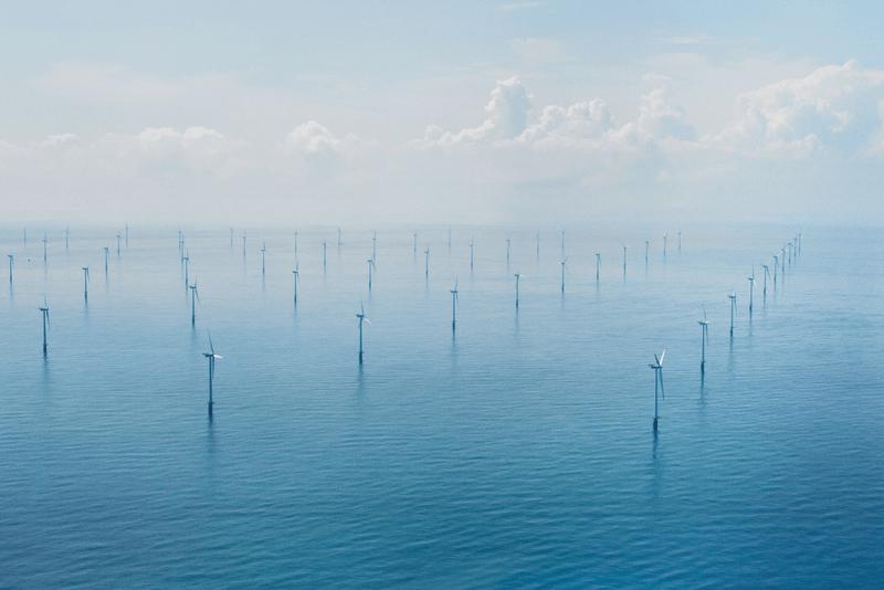 fornybar energi av vattenfall i form av vindkraft i havet