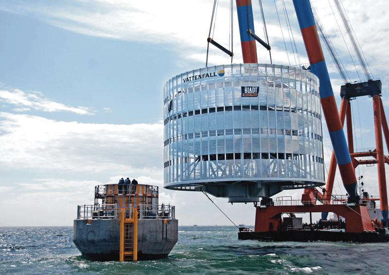 transport och installation av vindkraftverk i Lillgrund